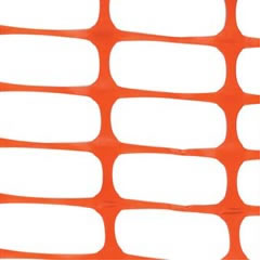 Orange Snow Fencing Barriers for Heavy Snow Warning